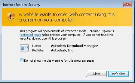 IE Security autodesk