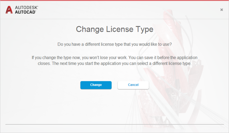 Changing license type in Autodesk 2017 and newer versions - IMAGINiT