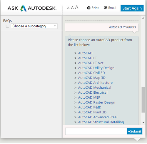 List of autocad products