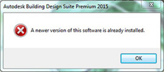 Autodesk A newer version of this software is already installed