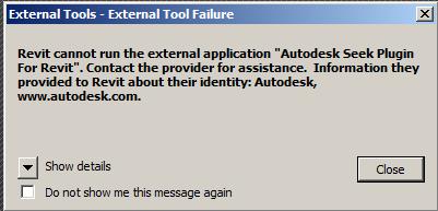 External tools external tool failure