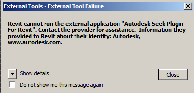 Revit External Tools - External Tool Failure - IMAGINiT Technologies