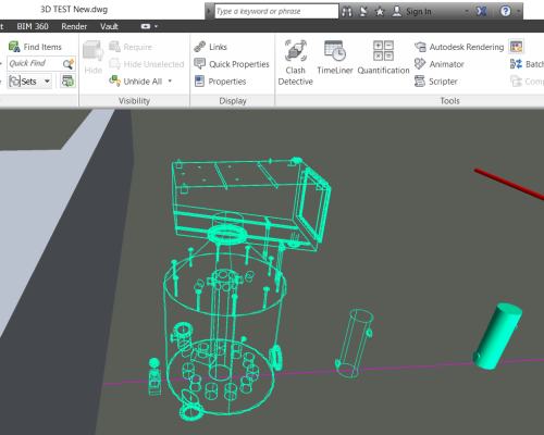 Only seeing wireframe objects when an AutoCAD Plant 3D dwg
