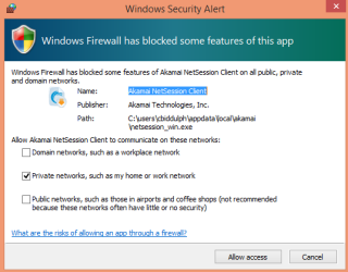 Firewall error