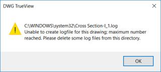 Unable to createlog