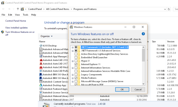 Installing Autocad 2017 Gives A Message That Ie 7 Or