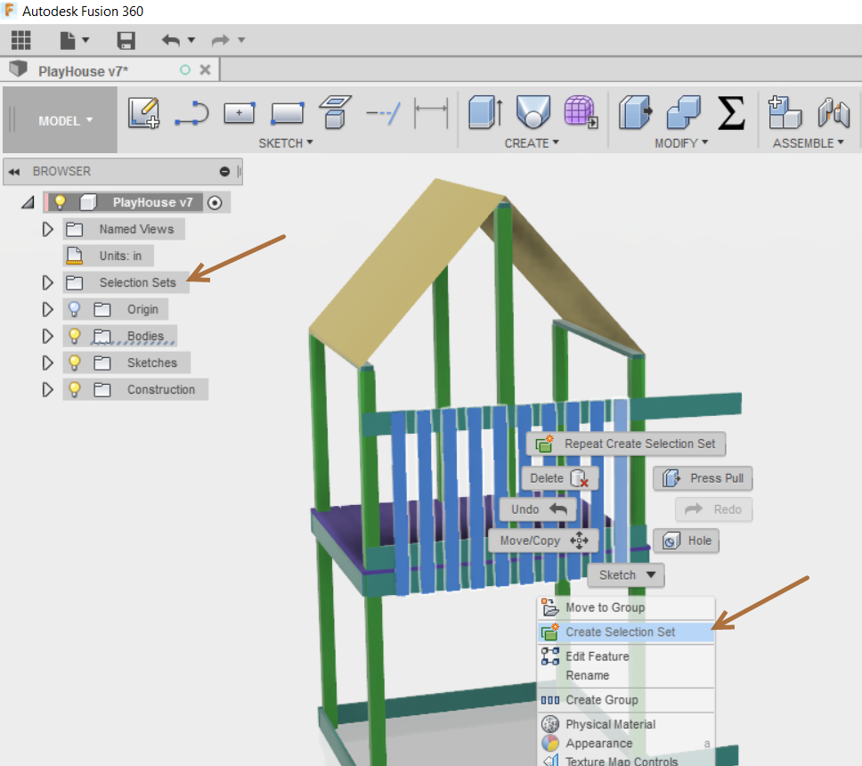 Selection Sets within Fusion 360 - IMAGINiT Manufacturing Solutions Blog