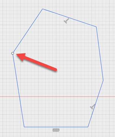 Open profile in your sketch? Fusion 360 shows you where