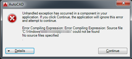 Autocad architecture error