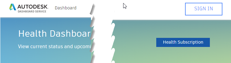 Autodesk dashboard