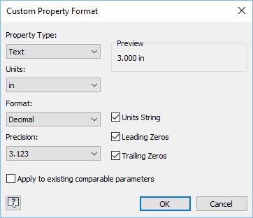 Custom Property Format