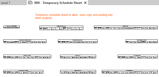 1a-temporary schedules