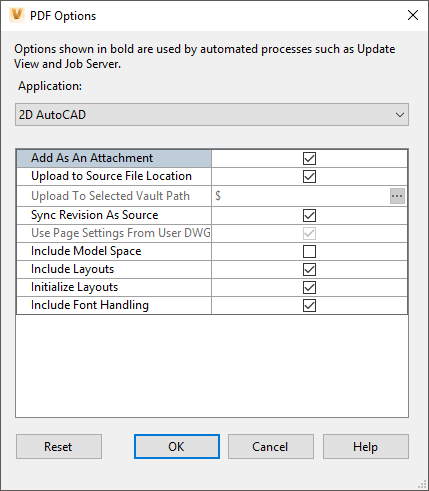 Automatically Creating PDF's with Autodesk Vault