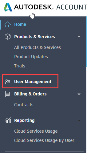 New manage users