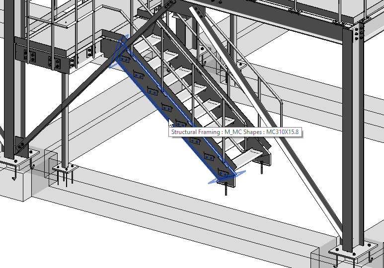 Stairs imported into Revit