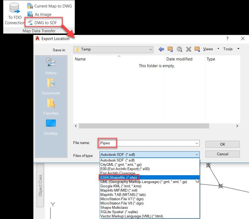 Exporting Civil 3D Pipe Networks to ESRI Shapefiles - IMAGINiT Civil