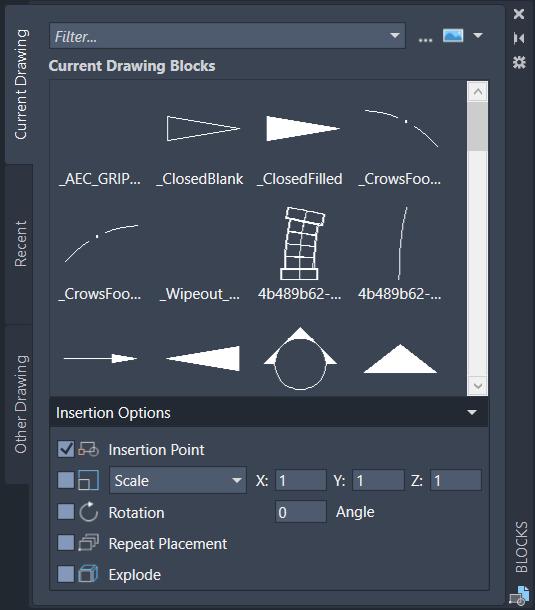 Enhanced 'Insert' interface for AutoCAD 2020 - IMAGINiT Civil