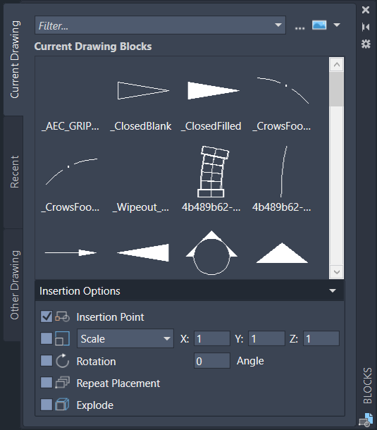 Enhanced 'Insert' interface for AutoCAD 2020 - IMAGINiT