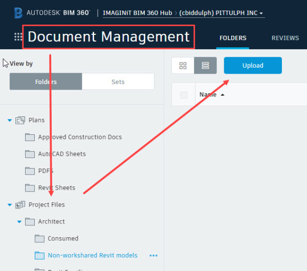 How to upload or collaborate a model to BIM 360 Docs - IMAGINiT