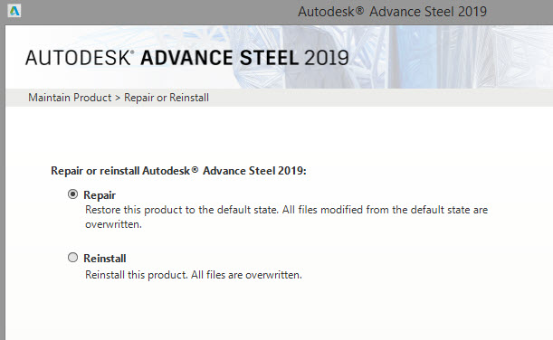 Advance Steel: Connection Vault palette disappeared