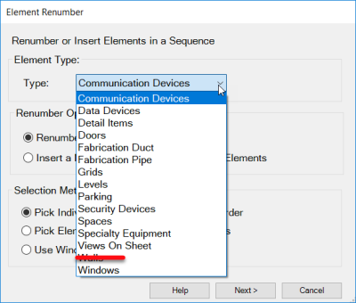 IMAGINiT Revit Utilities Bundle Customize Element Renumber Categories