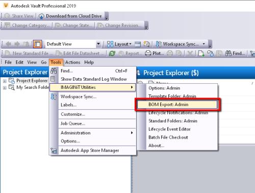 Can't Save BOM Export Setup Edits in IMAGINiT Vault Client Utilities