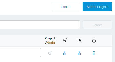 Add to project button